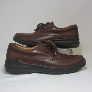 ECCO Seawalker Brown Leather Moccasin Oxford